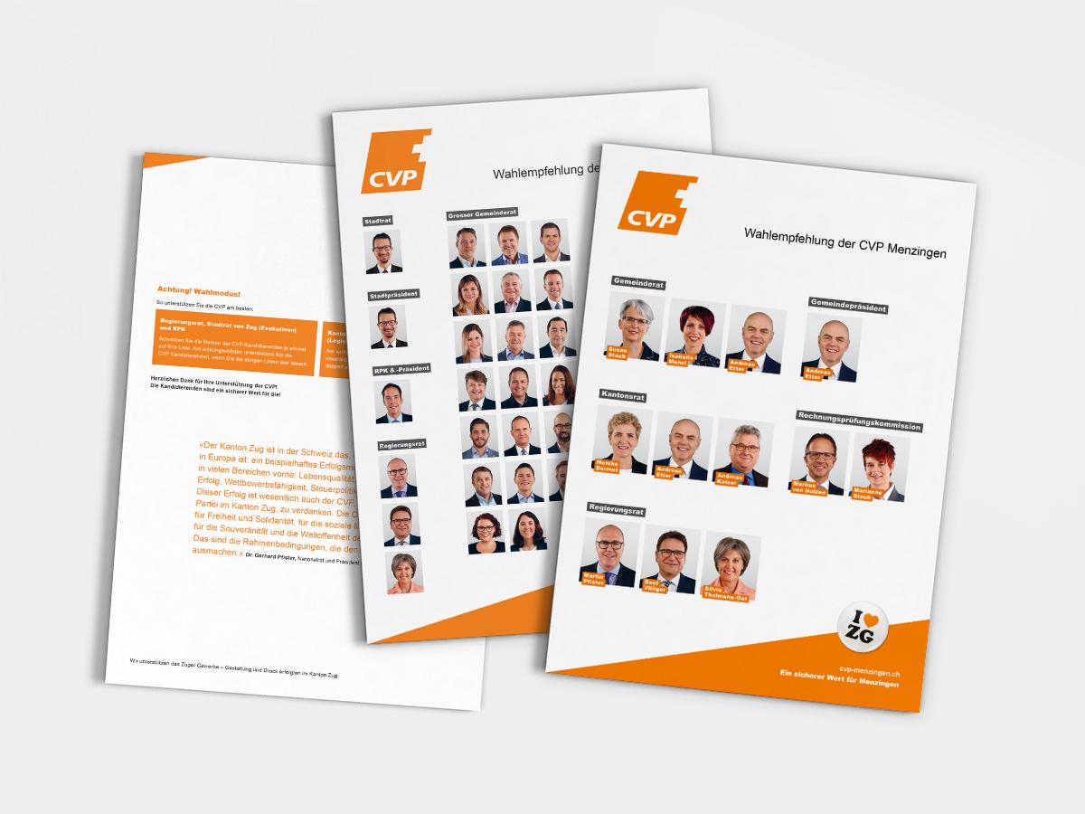 Wahlbroschüre CVP