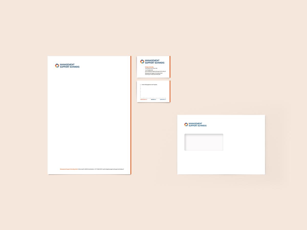 Briefschaft Management Support Schmidig
