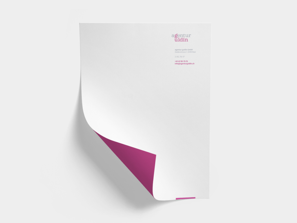 Briefpapier agentur guldin
