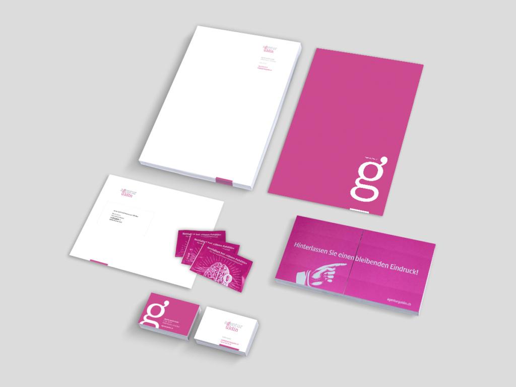 Briefschaft und Give-Aways agentur guldin
