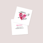 Visitenkarte a piece of love
