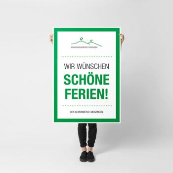 Poster Gemeinde Menzingen